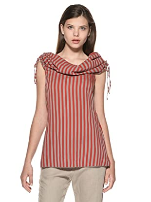 Eccentrica Camiseta Kayleigh (Rojo/Gris)