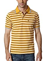 Peter England Sunshine Hued Striped T Shirt