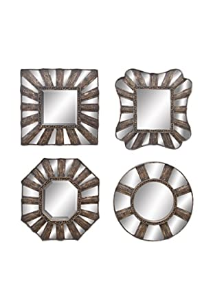 UMA Set of 4 Assorted Metal Mirrors