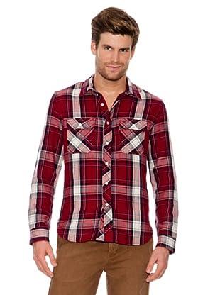 Dockers Camisa Franela de Cuadros (Rojo)