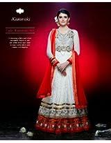 Splendorous White Anarkali Salwar Suit
