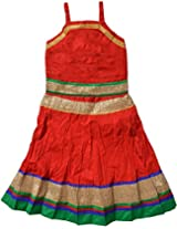 Magnus Baby Girls' Heavy Print Lehenga Choli Suit (KID224, Red, 6-12 Months)