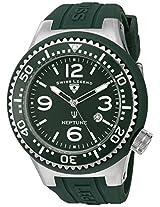 Swiss Legend Men's 21818S-F-NYJ Neptune Dark Green Dial Dark Green Silicone Watch
