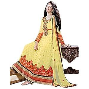 Yellow Georgette Designer Ankle Length Anarkali Suit