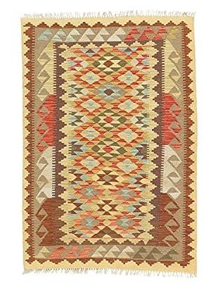 eCarpet Gallery One-of-a-Kind Kashkoli Kilim Rug, Pink/Khaki, 3' 7