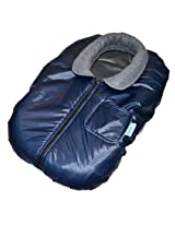 Tivoli Couture Car Seat Jacket Infant Bunting Cover, Metallic Midnight Blue