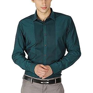 Van Heusen Men's Slim Fit Cotton Shirt [25360_Green_40]