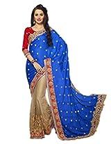 Shoppingover Saree (Blue)