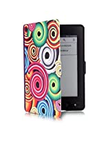 "ProElite Designer Smart Flip Case Cover for Amazon Kindle 6"" Glare-Free Touchscreen Display, Wi-Fi ereader (7th Generation, 2014) (Sleep/Wake) (Design-Circles)"