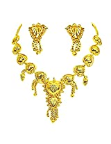 Surat Diamonds Gold Plated Necklace & Earring Set for Women (GP5)