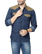 People Men's Slim Fit Shirt_ P10102168617252_42_ Blue