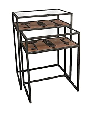 Winward Accent Tables with Keys, Black