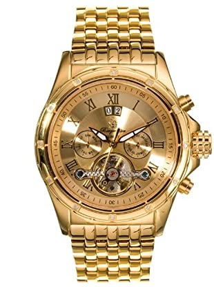 Burgmeister - Reloj de caballero, correa de acero inoxidable - color oro
