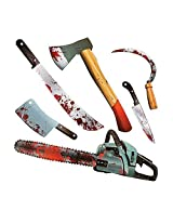 Paper Halloween Bloody Weapon Party Cutouts 6 Pieces