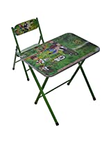 M&G Ben 10 Folding Study Table and Chair, Green (5 cm x 64 cm x 69 cm)