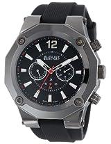 August Steiner Men's AS8080BK Swiss Multi-Function Black Silicone Strap Watch