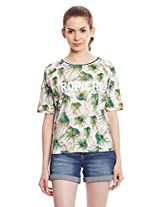 United Colors Of Benetton Women's Tropical Print T-Shirt