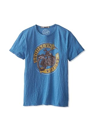 Brooklyn Motors Men's Round About Crew Neck T-Shirt (Dusty Royal)