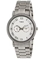 Timex E Class Analog White Dial Men's Watch - TI000J20500