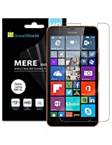 Microsoft Lumia 640 XL Screen Protector - GreatShield MERE Mark II Ultra Clear (HD) Screen Protector with Lifetime Replacement Warranty for Microsoft Lumia 640 XL (3 Pack)