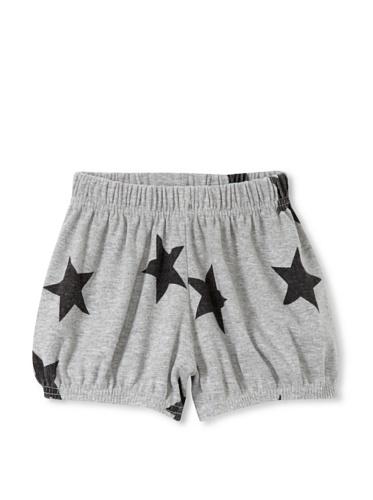 NUNUNU Baby Star Yoga Shorts (Heather Grey)