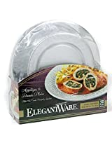Hefty Elegantware Disposable Dinner and Appetizer Plates, 50 Plates