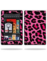 Protective Vinyl Skin Decal Cover for Amazon Kindle Fire 7 inch Tablet sticker skins Pink Leopard