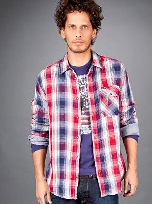 Wrangler Camisa Eclipse (Azul / Blanco / Rojo)