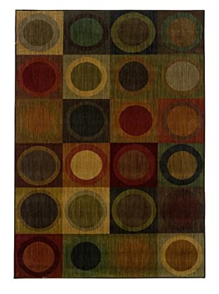 Granville Rugs Tuscany Rug (Green/Brown)