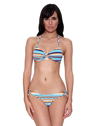 Bikini Laurene (Azul / Naranja)