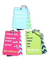FLYFROG MULTICOLOUR LUGGAGE TAGS