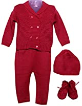 Amity Anchor Kids Warm Wear Set (AA14-15477_6-12 Months_Red)