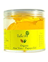Rustic Art Organic Aloe Vera - Papaya Gel, 100gm