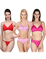 Urbaano Multi MARIEE Bridal Set - URM0902T - Purple , Pink , Red (36)