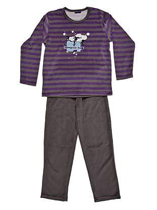 Blue Dreams Pijama Niño Tercipelo (gris)