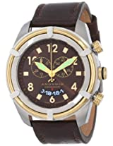 Android Naval-2 AD466BGBN 48MM Swiss Quartz Chronograph Analog Brown Dial Men's Brown Leather Watch