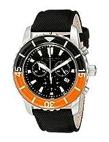 Stuhrling Original Men's 3268.01 Aquadiver Felucca Analog Display Swiss Quartz Black Watch