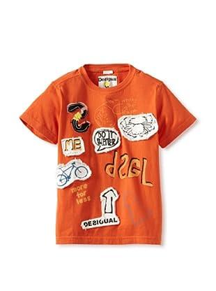 Desigual Boy's Napolitanas T-Shirt (Orange)