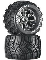 Duratrax Hatchet MT 3.8 Mounted 1/2 Offset Tyre (Set of 2), Chrome