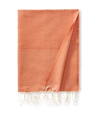 Fouta Bath Towel, Honeycomb Orange