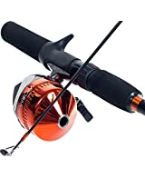 South Bend Worm Gear Fishing Rod and Spincast Reel Combo (Red)