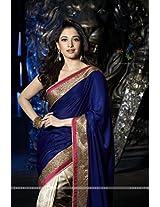 Tamanna Royal Blue Saree