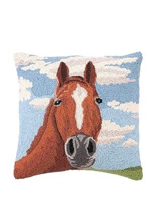 Peking Handicraft Hook Pillow, Horse Portrait, 18