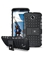 Kayscase Armorbox Heavy Duty Cover Case For Google Nexus 6 - Black