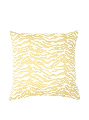 Image by Charlie Kenya Zebra Decorative Pillow, Spectra Yellow/Off-White, 20