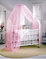 BESTOPE White Toddler Baby Nursery Halo BED NET Mosquito Net Crib TENT Canopy Netting (Pink)