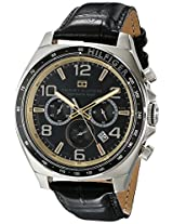 Tommy Hilfiger Men's 1790936 Sport Luxury Chronograph and Black Leather Strap Watch
