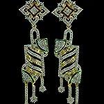 Yellow Gold Plated American Diamond Fashion Dangle & Drop Earring