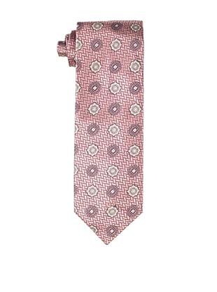 Massimo Bizzocchi Men's Vintage Medallion Tie, Pink
