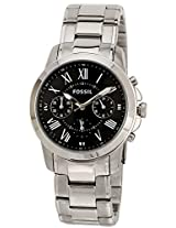 Fossil Grant Chronograph Black Dial Men's Watch - FS4736
